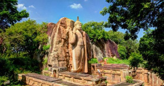 Kolossale Statue von Avukana Buddha Bild, Sri Lanka