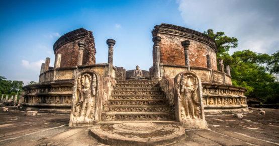 Altes watadageya Gebäude in Polonnaruwa, Sri Lanka