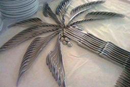 Resteraunt - Ypsylon Resorts, Das Tischgedeck in Palmenform